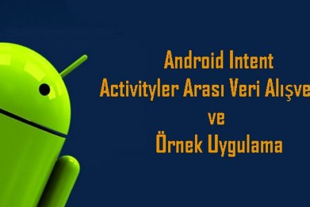 Android Intent, Activityler Arası Veri Alışverişi ve Örnek Uygulama