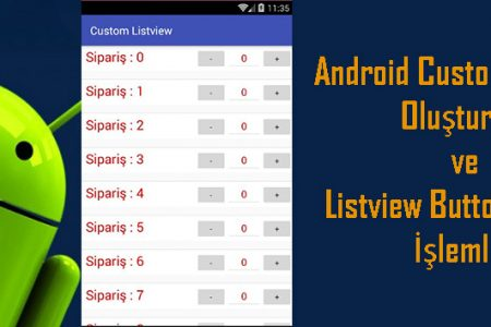 Android Custom Listview Oluşturma ve Listview Button Ekleme İşlemleri